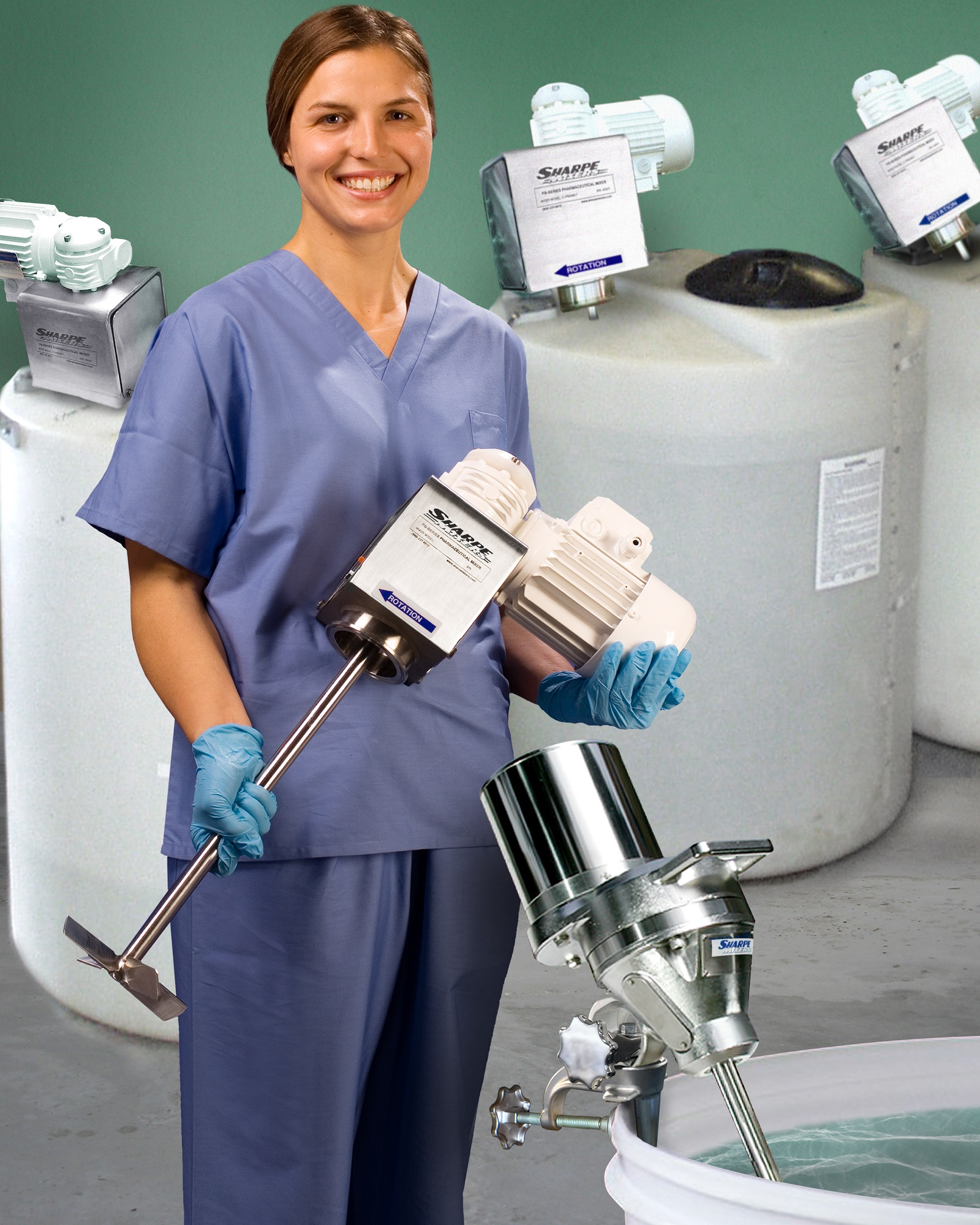 PORTABLE SANITARY MIXERS DESIGNED TO CUSTOMER REQUIREMENTS