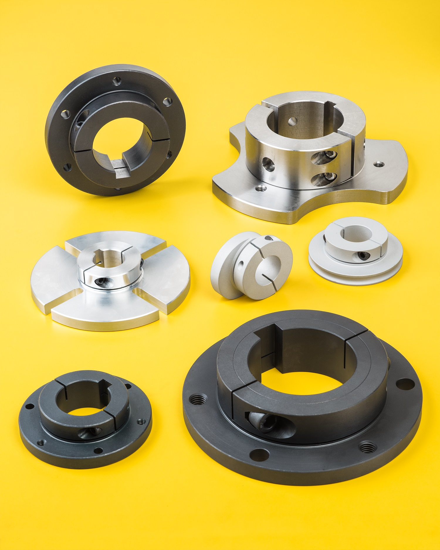Flanged one piece shaft collars enhance user mounting