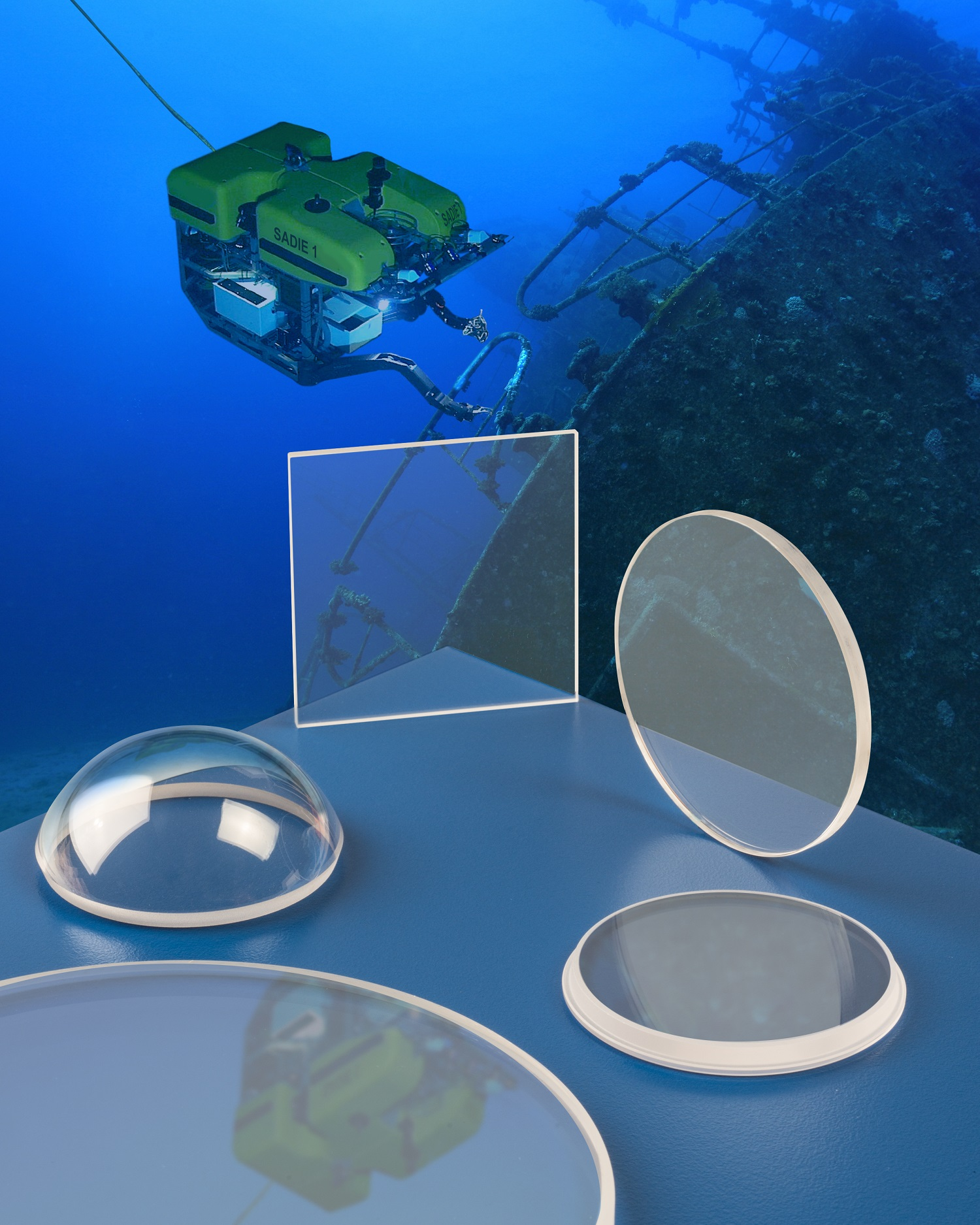 SAPPHIRE OPTICS WITHSTAND DEEP WATER PRESSURE