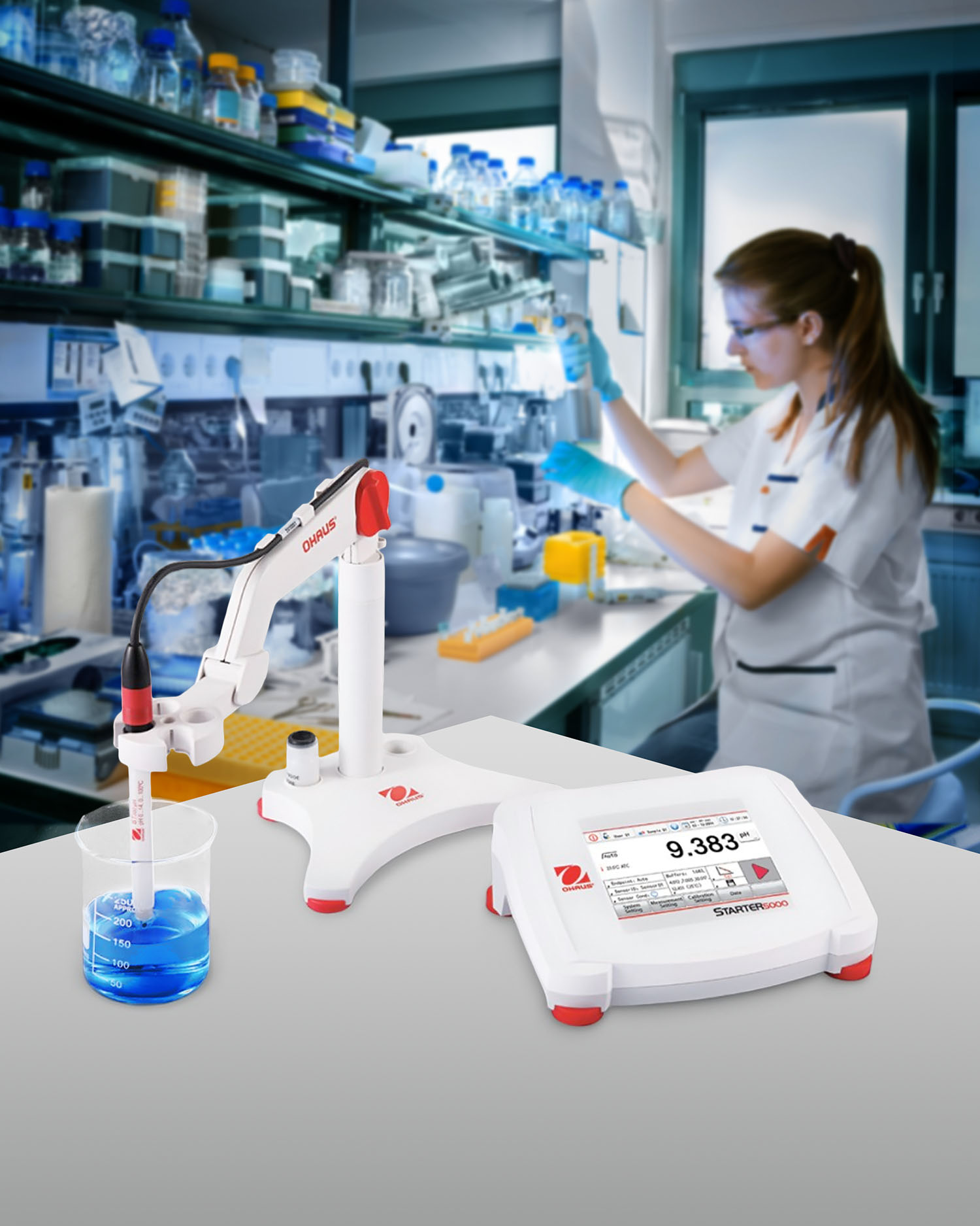 pH BENCH METER FEATURES INTUITIVE INTERFACE