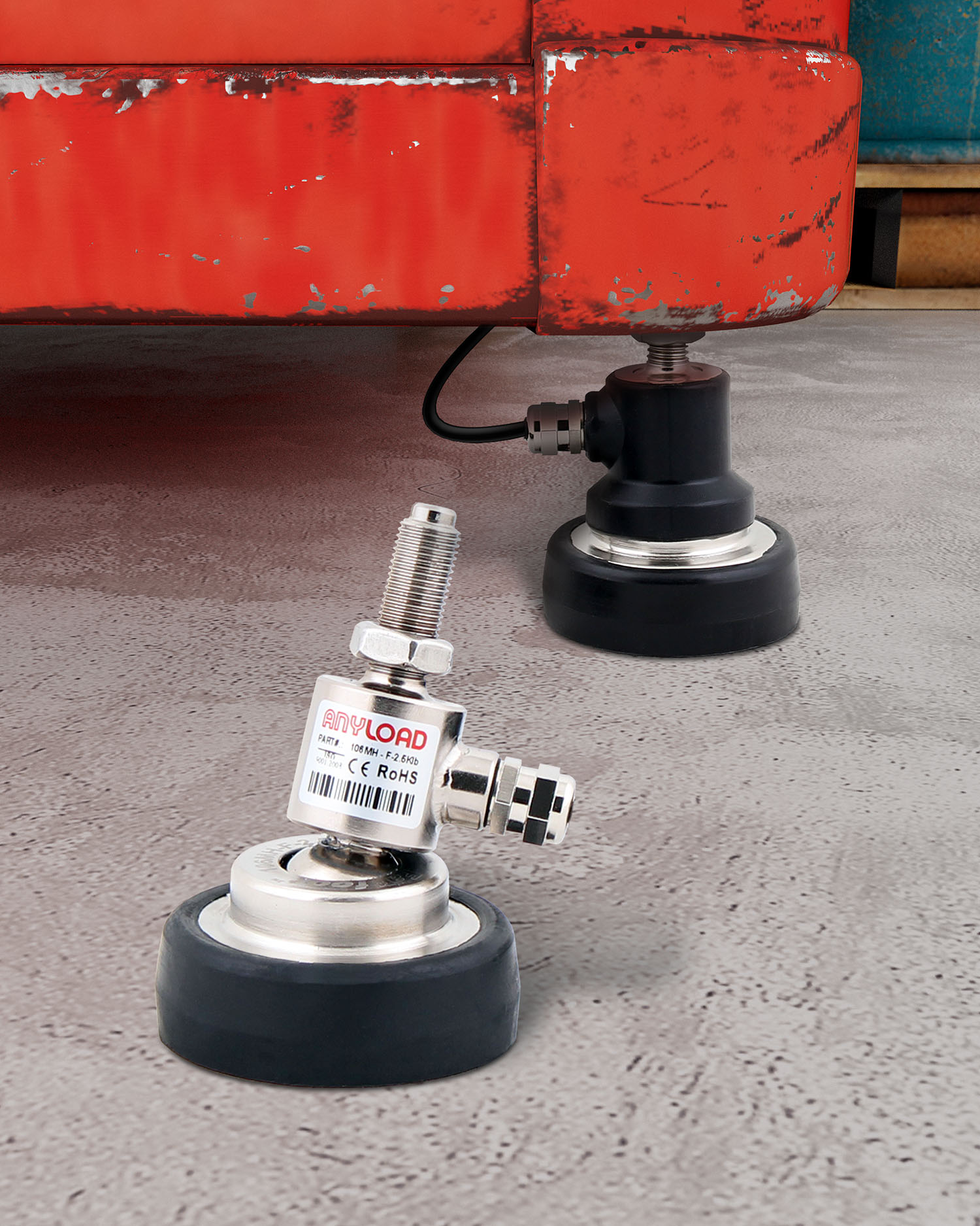 FOOT LOAD CELLS ELIMINATE BULKY WEIGH MODULES