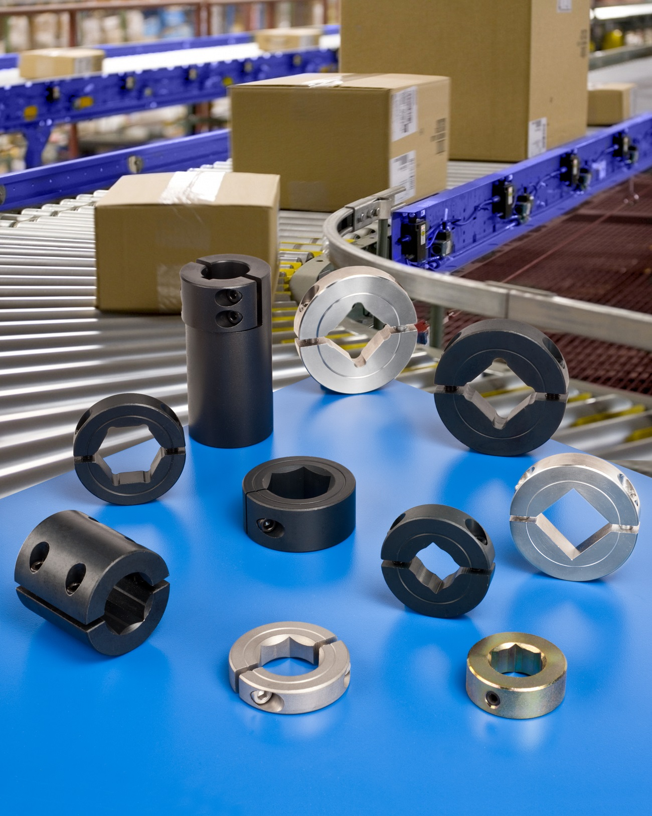 SHAFT COLLARS & COUPLINGS FOR CONVEYOR DRIVE AND ROLLER SYSTEMS