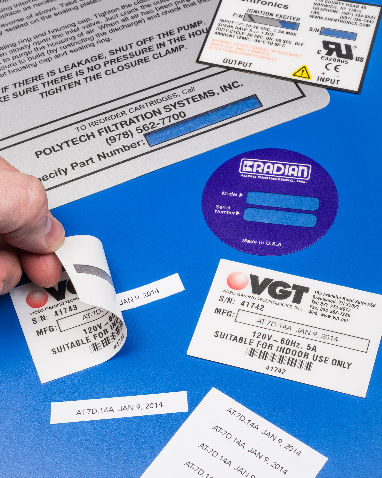 PRODUCT IDENTIFICATION LABELS ACCEPT VARIABLE DATA AND ARE TAMPER-PROOF